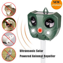 Solar Powered Motion Activated Animal Ultrasonic Cats Dog Repeller Frighten Animals For Outdoor Gardening sonar Repellents