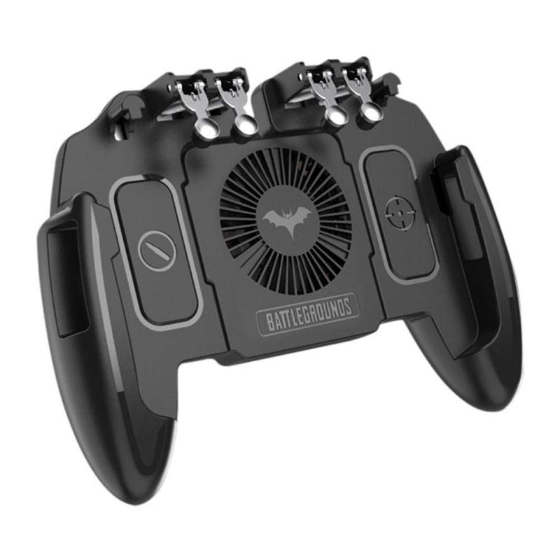 PUBG Mobile Joystick Controller Turnover Button Gamepad for PUBG iOS Android Six 6 Finger Operating Gamepad With Cooling Fan 2