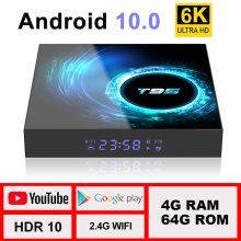 TV Box Android 10 4G 64G Support 6K 30FPS YouTube Google Play Google Voice Assistant LEMFO T95 H616 Smart Set Top Box 2020 3D