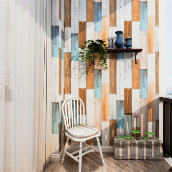 LUCKYYJ Peel And Stick Wallpaper 3D Wood Plank Vinyl Self Adhesive Contact Wall papers Removable Home Decorative Stickers