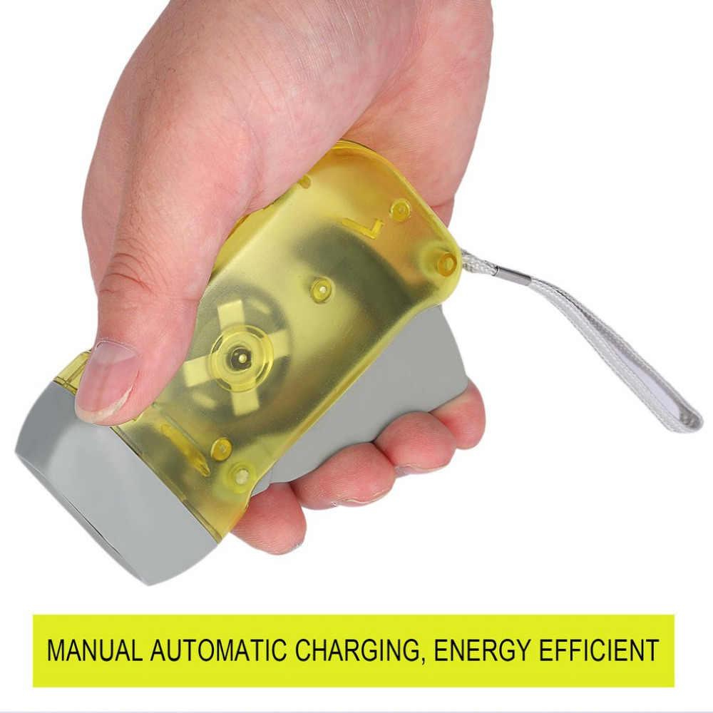 Icoco懐中電灯 3 ledダイナモハンドプレスクランク電源風アップトーチライトクランク旅行キャンプランプライトドロップシッピング