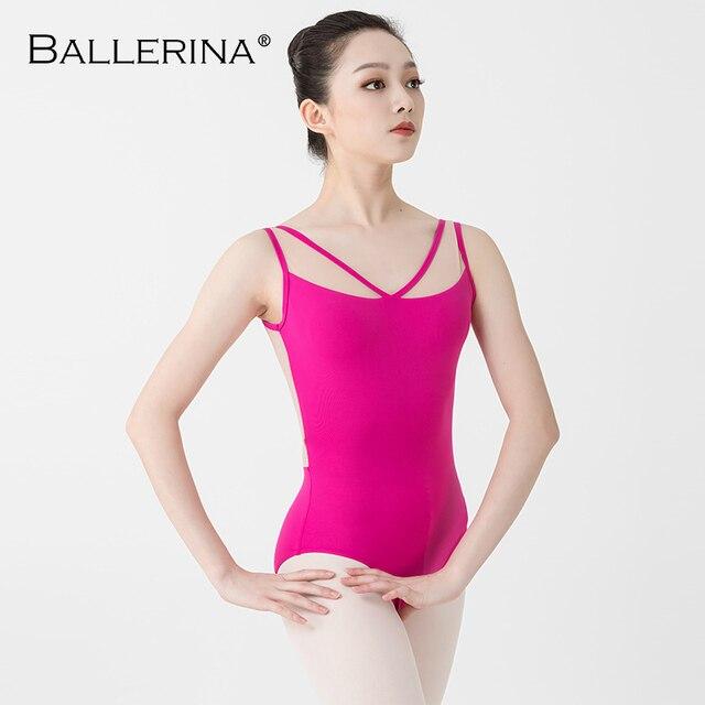 Ballerina Ballet Leotards For Women Yoga Sexy aerialist Dance Costume mesh gymnastics Sleeveless Leotards 2518