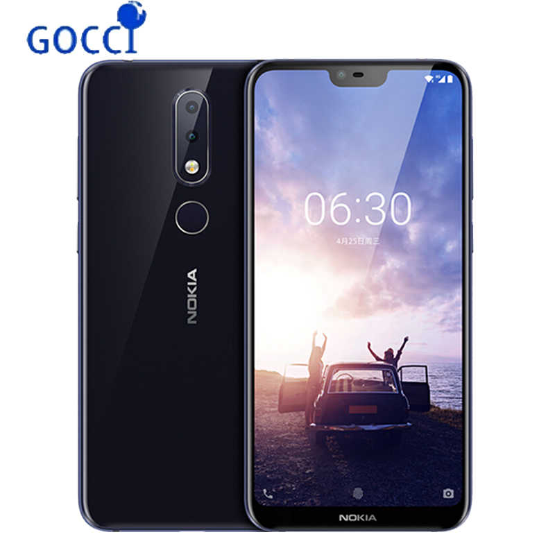 Nokia X6/6.1plus Mobile Phone 5.8 inch 18:9 FHD 64G Snapdragon 636 Octa Core 16.0MP+5.0MP Camera Fingerprint ID Smartphone