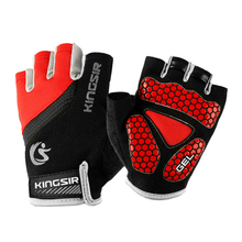 1 Pair Outdoor Sports Half Finger Gloves Non-Slip Breathable Workout Gloves for Cycling Climbing Fishing Riding Size XXL (Red) oumily outdoor tactic half finger gloves khaki size l pair