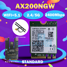 Banda dupla 2400mbps sem fio ax200ngw ngff m.2 bluetooth 5.0 wifi placa de rede 2.4g/5g 802.11ac/ax para intel ax200