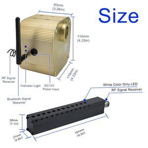 Image 3 - 16w rgbw twinkle inteligente bluetooth app kit de teto estrela de fibra óptica misturada 335/430 pces *(0.75 + 1.0 + 1.5mm) com efeito de meteoro tiro