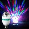 E27 светодиодный RGB светодиодные лампы 9W 6W AC85-265V 220V 110V Лампочка Magic Цвет проектор автоматический вращающийся сценический светильник для отдых...