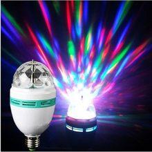 E27 conduziu a lâmpada rgb 9w 6 AC85-265V 220v 110v bulbo cor mágica projetor de rotação automática luz do estágio para o feriado festa barra ktv disco