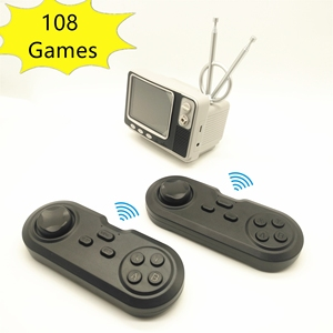 Retro Mini TV Console Handheld Game Console Video Games for NES Games with 2 Wireless Controllers 108 Different Games AV Out