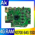 E403SA Laptop Motherboard für ASUS E403SA E403S N3700 4 kerne 4G RAM 64G SSD original mianboard 100% test ok