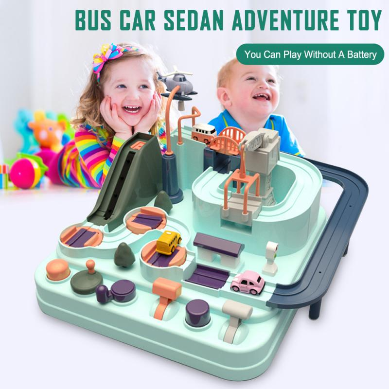 Baby Shining Education Railcar Toy Eco-friendly Baby Adventure Toy Adventure Toy Rescues Squad Adventure Rail Car Model Racing