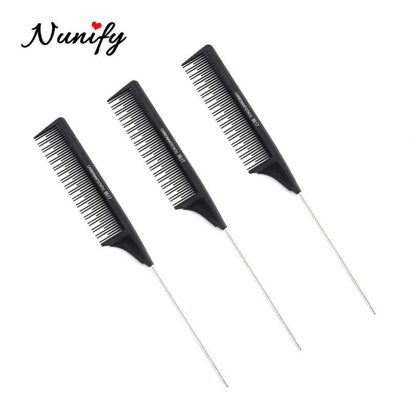Nunify Entwirren Haar Pinsel Männer Afro Haar Kamm Haar Gabel Kamm Einfügen Friseur Lockiges Haar Pinsel Kamm Haarbürste Styling Werkzeug
