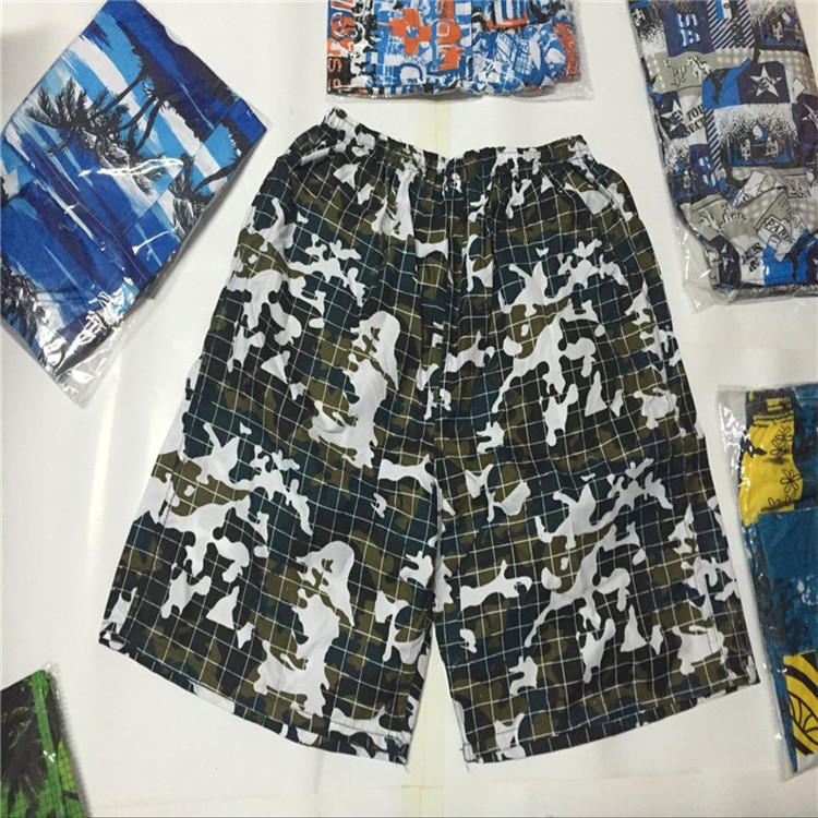 MEN'S Beach Pants Short Casual Sports Drifting Loose-Fit Quick-Dry Large Size Trunks Surfing Booth Goods
