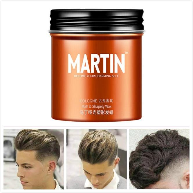Martin Profissional Cera de Cabelo Long-lasting Fofo Cabelo Pomada Lama Cera Homens Creme de cabelo Salon Styling Ferramenta Gel