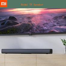 Xiaomi redmi caixa de som para tv, barra de som para computador xiaomi redmi com fio e sem fio, bluetooth 5.0, barra de som surround, estéreo para cinema preto preto