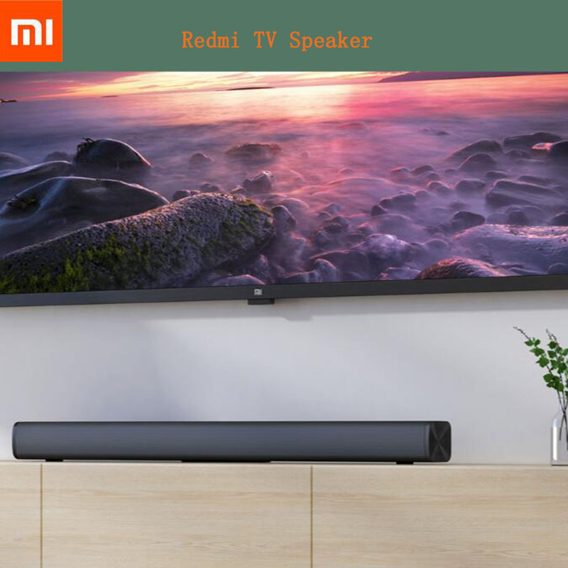 В наличии Xiaomi Redmi ТВ динамик ТВ звуковая панель проводная и Беспроводная Bluetooth 5,0 Домашний объемный Саундбар стерео для ПК театра черный|Саундбары|   | АлиЭкспресс