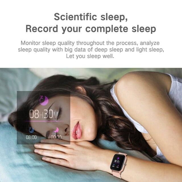 LIGE New P8 1.4 inch Full Touch Women Digital Watches Waterproof Sports For xiaomi iPhone Multifunctional  Electronic Watch Men 5