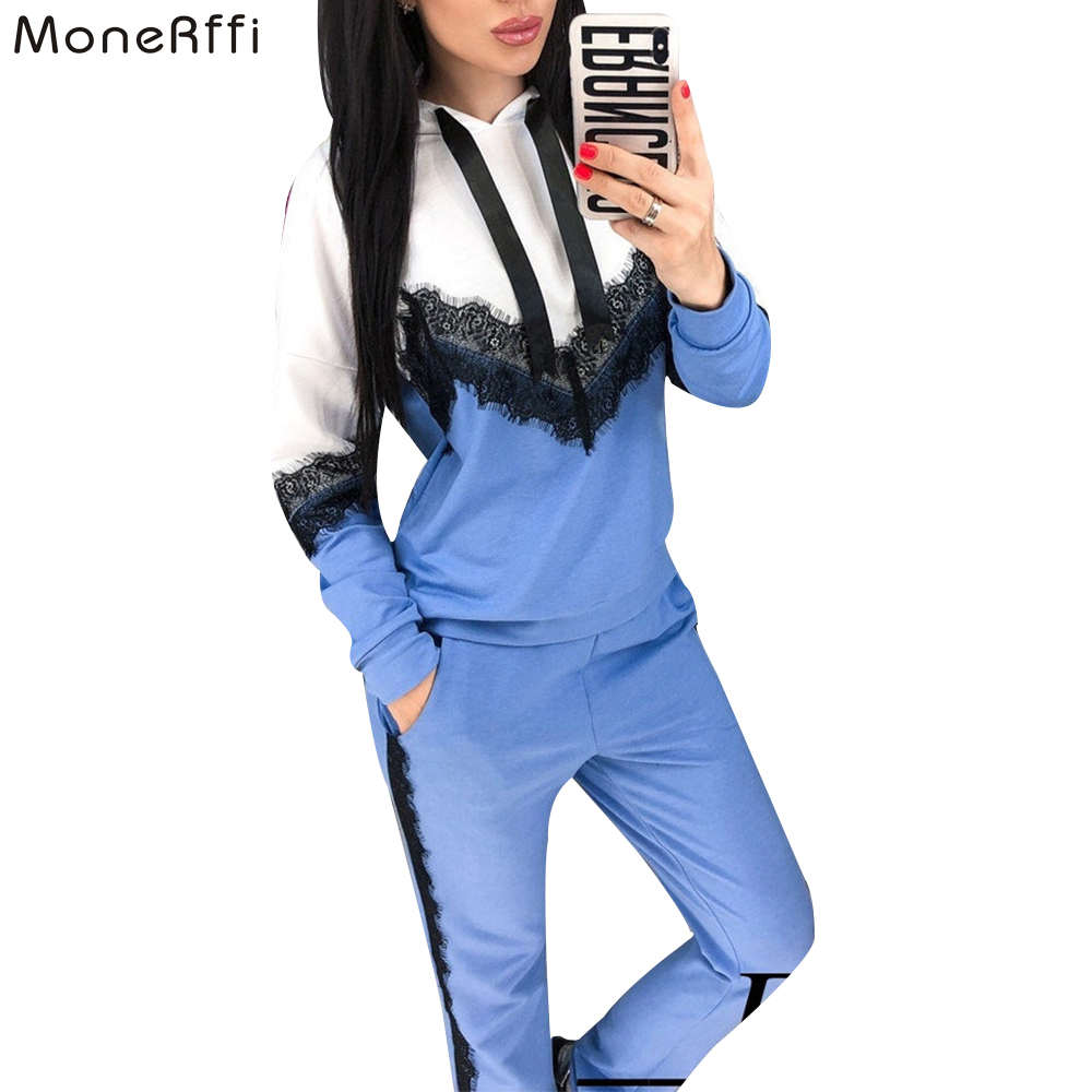 MoneRffi 2020 Autumn Winter Women Sets Tracksuit Female Two Piece Set Long Sleeve Pullover Jackets And Pants Warm Outfits Suit