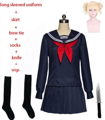My Hero Academy Boku no Hero Academy химико Тога JK Униформа юбки свитер толстовки кардиган костюмы для косплея - Цвет: H