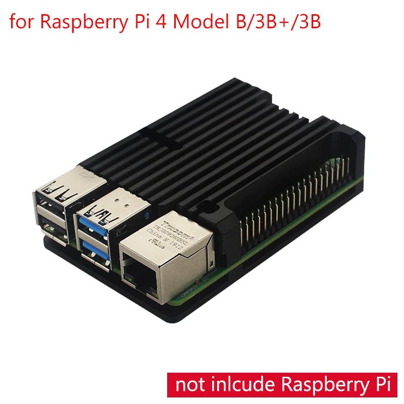 Raspberry Pi 4 Model B Aluminum Alloy Case CNC Box Housing For Raspberry Pi 4 Model B /3B+/3B