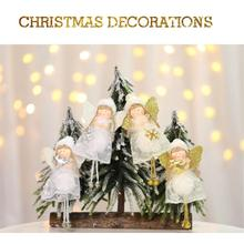 Simple Angel Doll Pendant Creative White Lovely Christmas Crafts For Tree Decoration Holiday Products