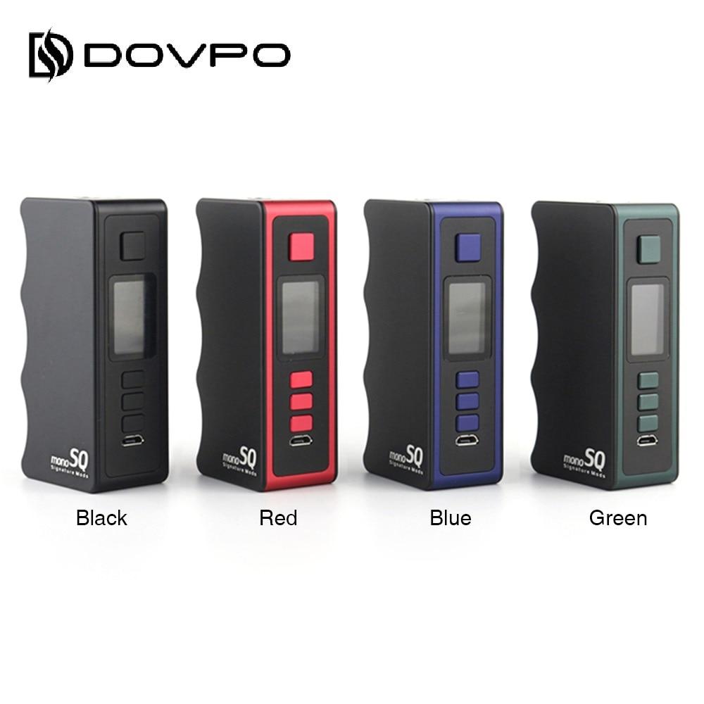 Original DOVPO Mono SQ 75W TC Box Mod Power By 18650 Battery Box Vape Mod Max 75W With Evolv DNA75C Chip DNA MOD Vs Swag 2 / Gen