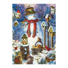 christmas snowman Moge Diamond Painting Full Round animal forest New DIY sticking drill cross stitch 5D embroidery decorative