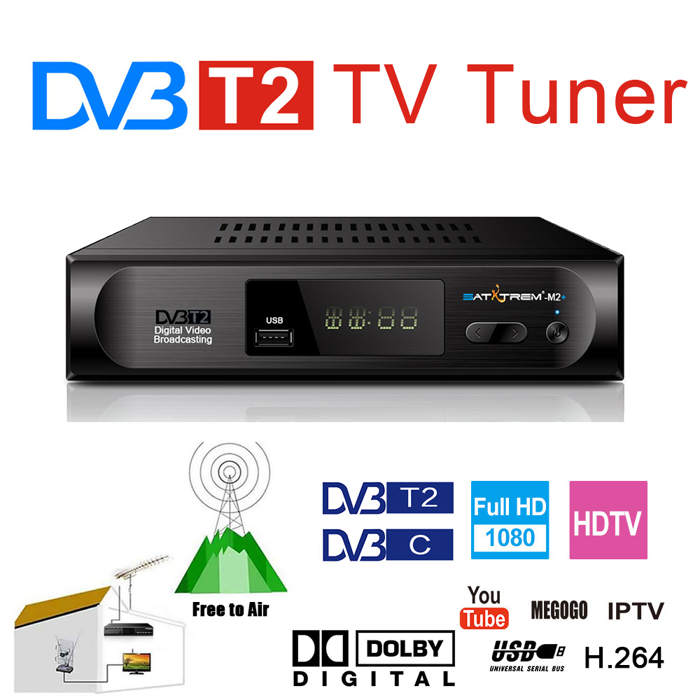 DVB T2 TDT TV Rezeptor Präfix Für Digital TV Tuner DVB-T2 Wifi Empfänger Set Top Box AC3 H.264 FTA 1080P DVB-C Decoder Youtube