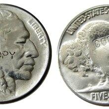 US 1918D с гравировкой в виде американского бисона из никеля пять центов копия декоративной монеты