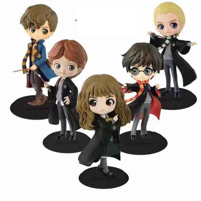 QPosket Cute Big Eyes Harri Potter Ron Weasley Hermione Granger Draco Malfoy Snape Vinyl Figure Model Toys 15cm
