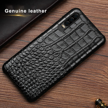 Crocodile Genuine leather Case For Huawei Y5 Y6 Y7 Y9 Prime Pro P smart Z 2019 2018 Phone Back Cover