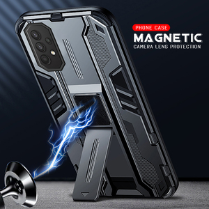Image 1 - Magnetic Car Holder Phone Cover For Samsung Galaxy A52 5G Case For Samsung A 52 52A A525F A526B Shockproof Lens Protection Cases