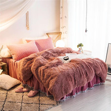 купить Microfine Fuzzy Blanket Fur Bed Fluffy Winter Bed Cover Fleece Cozy Soft Sherpa Blanket Throw Warm Soft Blankets For Beds Thick дешево