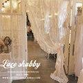Французская винтажная гирлянда рококо, занавески с вышивкой, s, белые прозрачные шторы для окна, гостиной, вуаль, занавески с оборками