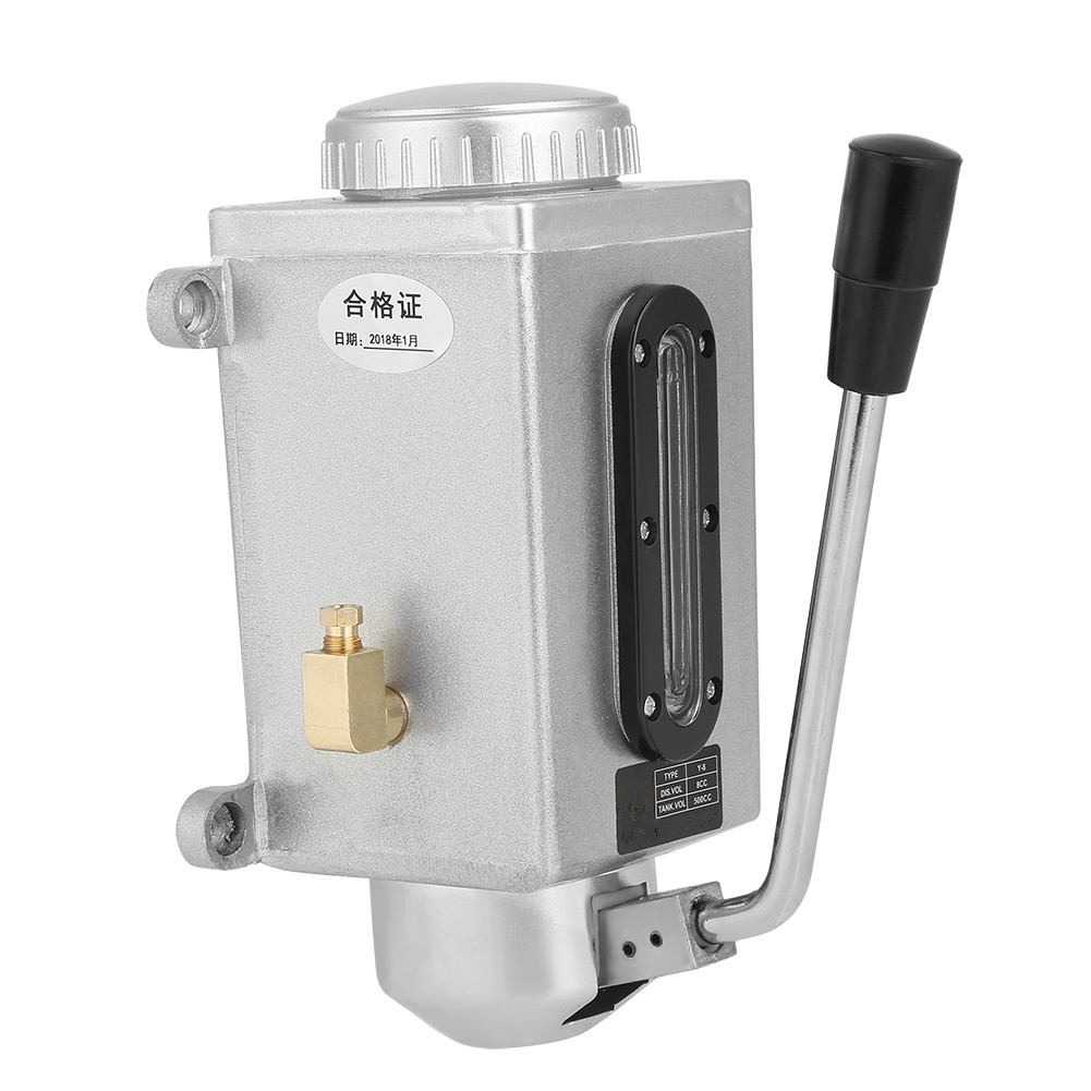 Ручной масляный насос для смазки 500CC CNC 4 мм двойной выходной порт ручной смазочный насос