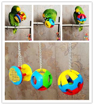 1PC słodkie zwierzątko zabawka papuga ptak Hollow piłka z dzwonkami Pet Bird plastikowa piłka do żucia klatka łańcuchowa zabawka dla papugi Cockatiel Parakeet tanie i dobre opinie Santtiwodo CN (pochodzenie) Z tworzywa sztucznego DDD622