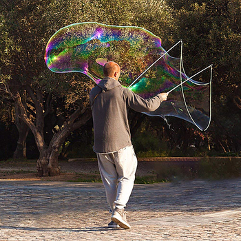 Juguetes de burbujas para exterior, tamaño grande ajustable, interesante, máquina de burbujas larga, barra de pistola, palos sin agua para niños, juguete para burbujas de jabón