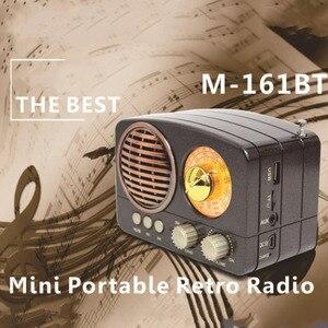 Image 2 - M 161BT Âm Thanh Đa Năng Đài Phát Thanh Khe Cắm Thẻ TF Tặng Loa Bluetooth Di Động Nhà USB Sạc AM FM SW Mini Bền Retro