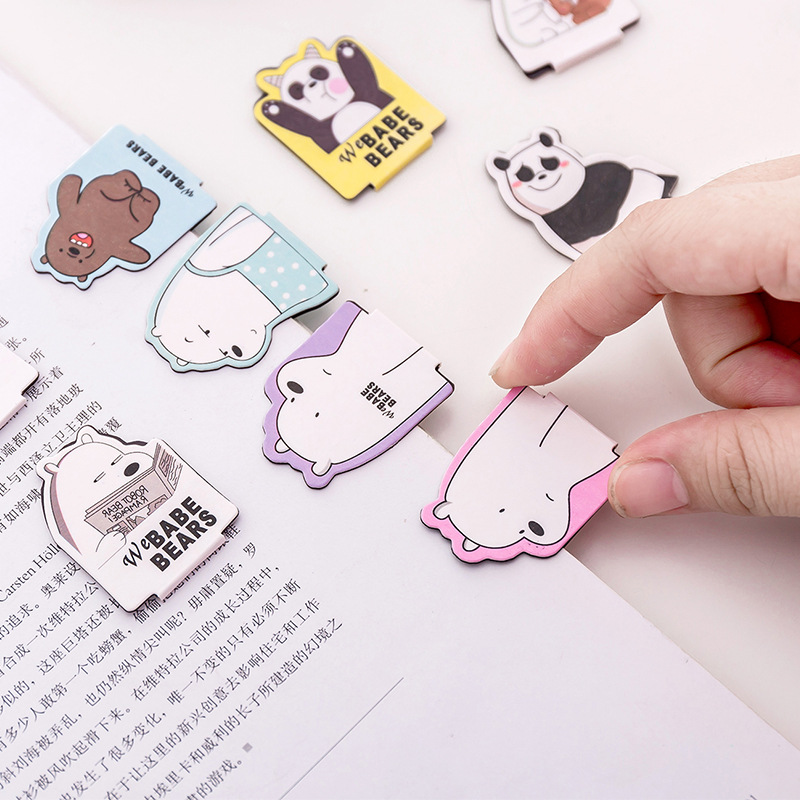 4pcs/Set Kawaii Cat Paw Magnetic Bookmarks Books Marker of Page Stationery School Office Supply Student image