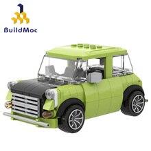 Mr. Bean's Green Mini Car Building Blocks Series Figures Bricks Model Educational Compatible With Brands Birthday Toy Children