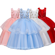 Butterfly Princess Dress Flower Girls Wedding Bridesmaid Dresses for Kids Tulle Long Dress Elegant Ball Gown Dress for Party цена в Москве и Питере
