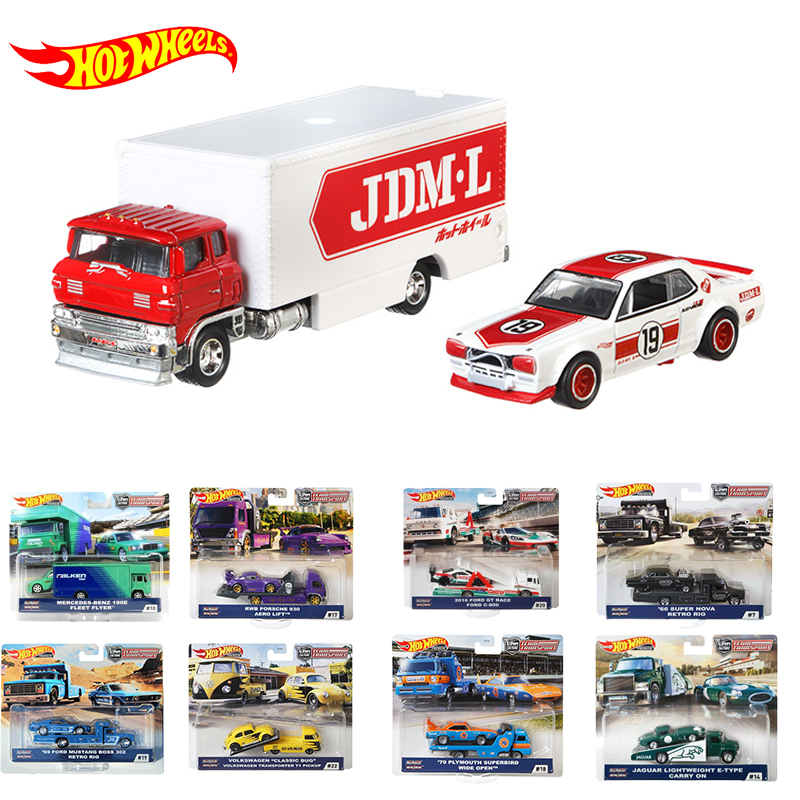 New Arrival Hotwheels Car Alloy Kids Toys for Boys Hot Wheels Car Diecast 1:64 Transport Fleet Limited Edition Car Collection