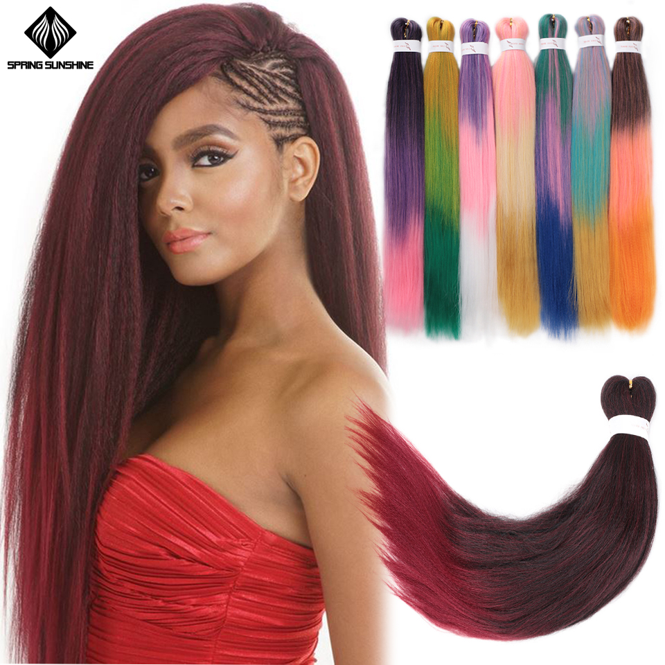 Long Pre Stretched Easy Braid Hair EZ Jumbo Braids Synthetic Braiding Hair YAKI Style Crochet Hair Extensions