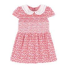Little maven/Новые Летние Детские Полосатые платья с аппликацией