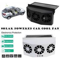 New Solar Powered Car Cooler Fan Window Radiator Exhaust Fan Auto Air Vent Radiator Fan Ventilation Radiator Cooling System