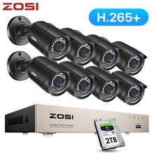 ZOSI 8CH CCTV System H.265+ HD TVI DVR kit 8 1080p Home Security Waterproof Outdoor Night Vision Camera Video Surveillance Kit