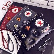 패션 배지 리벳 봉투 클러치 백 지갑과 핸드백 Pu 가죽 숄더 백 여성용 크로스 바디 백 2020 New Bag
