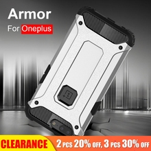 [Clearance] For Oneplus 6 5T Luxury Hard PC+TPU Protection Case 5 Silicone Shockproof Anti-knock Full Cover