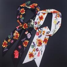 Women Headband Silk Scarf Multi-function Kerchief Handbage Ribbon Wholesale Drop Shipping / Flowers Printed Hair Accessories