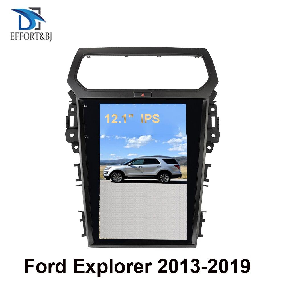 Вертикальный Tesla экран Android 9,0 4 + 64G PX6 Автомобильный мультимедийный плеер Gps для Ford explorer Автомобильный GPS навигатор Стерео Авторадио DSP